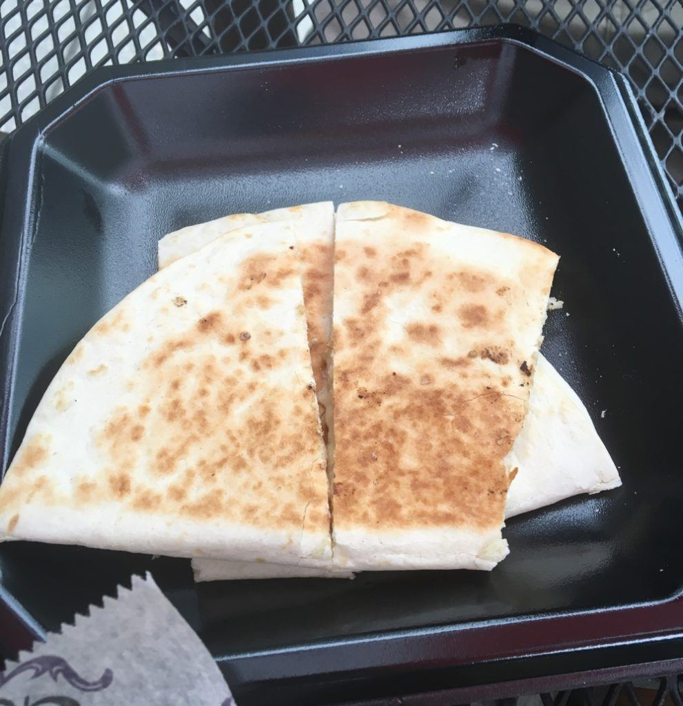 quesadilla at taco bus in tampa