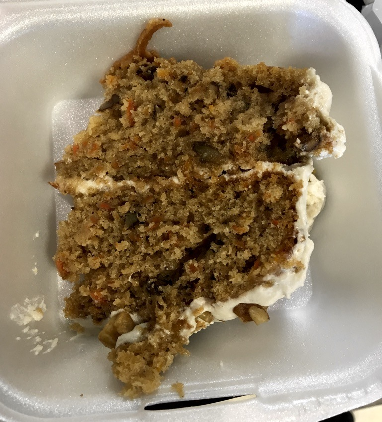 carrot cake at back to edenz.