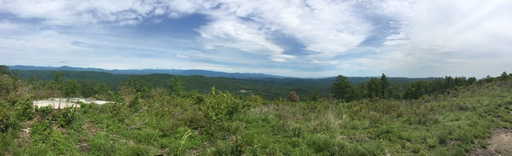 Panoramic view at Sassafrass Mountain summit in South Carolina.