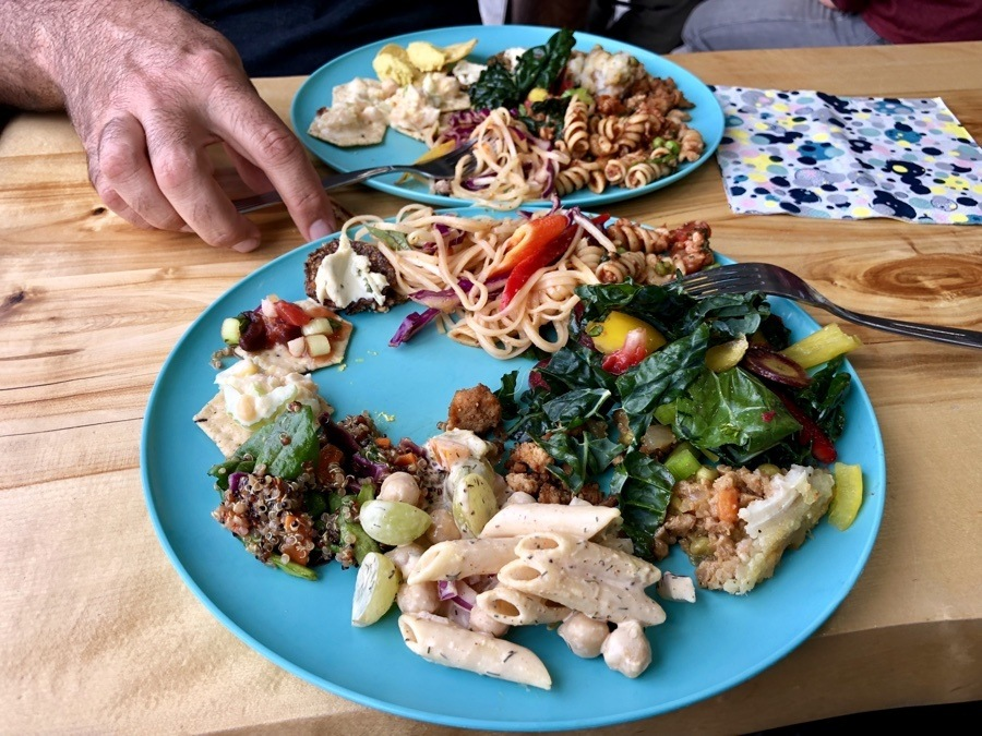 vegan potluck in fairbanks alaska.