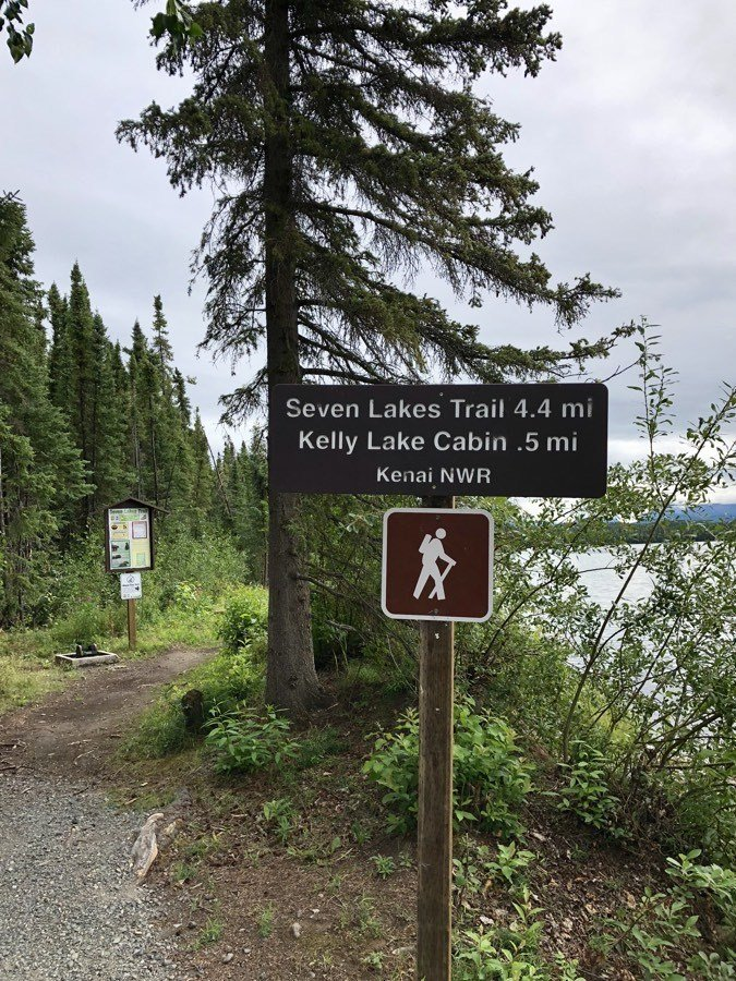 hiking trails at kelly lake.